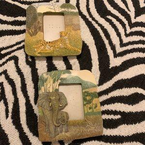 2 Animal/Safari Themed Picture Frames